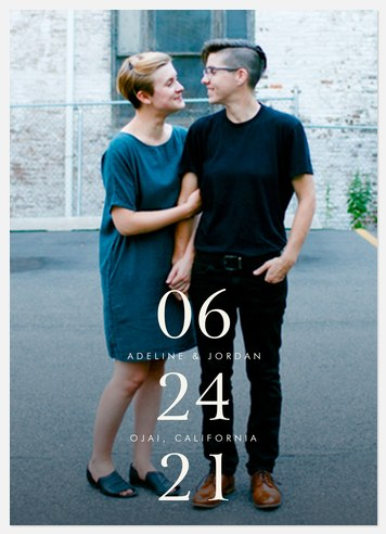 Exceptional Symmetry  Save the Date Photo Cards