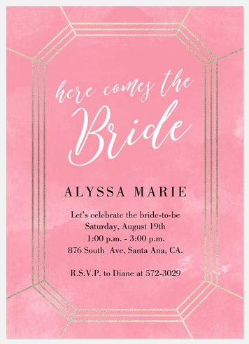 Deco Glamour Bridal Shower Invitations