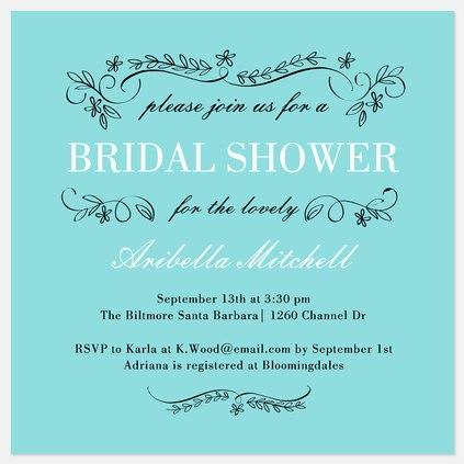 Flowering Trellis Bridal Shower Invitations
