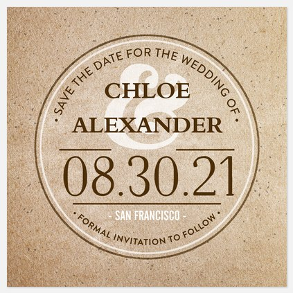 Modern Coaster Save the Date Photo Cards