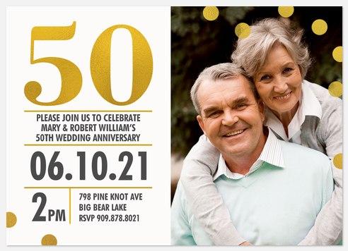 Stunning Achievement  Anniversary Invitations