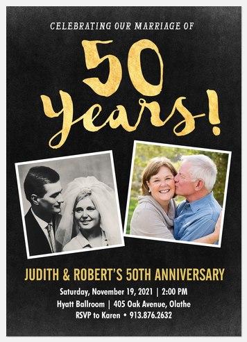 Brilliant Accomplishment  Anniversary Invitations