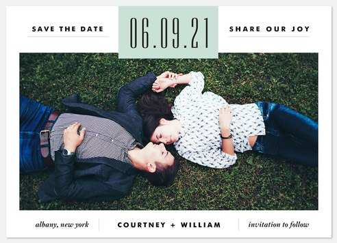 Modern Aesthetic  Save the Date Photo Cards