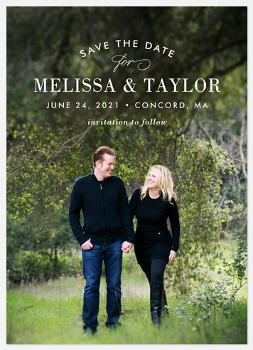 Chic Simplicity Save the Date Photo Cards