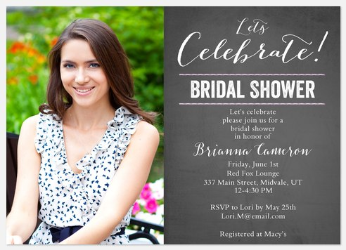 Vintage Elegance Bridal Shower Invitations