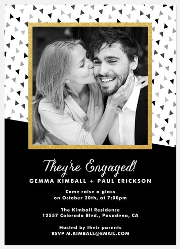 Tumbling Geo Engagement Party Invitations