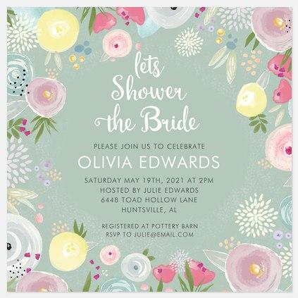 Lush Garden Bridal Shower Invitations