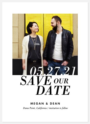 Contemporary Style Save the Date Photo Cards