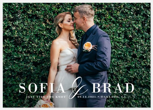 Sophisticated Celebration Wedding Announcements