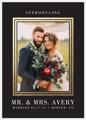 Luxe Frame  Wedding Announcements