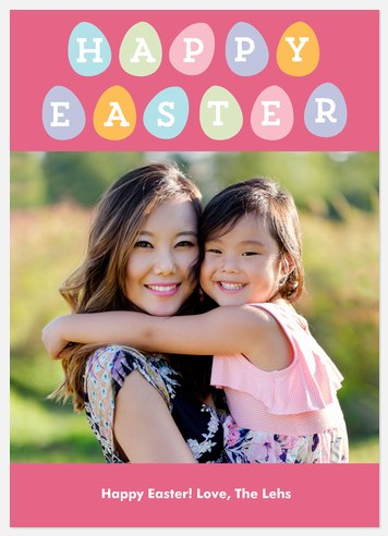 Colorful Eggs Easter Photo Cards