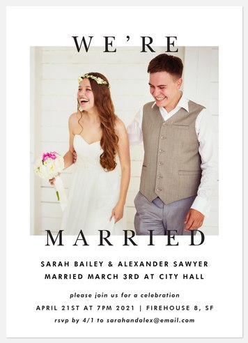 Modern Classic Wedding Announcements