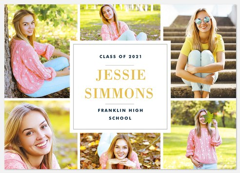 Photographic Border Graduation Cards