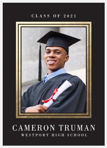 Gilded Double Frame Graduation Cards