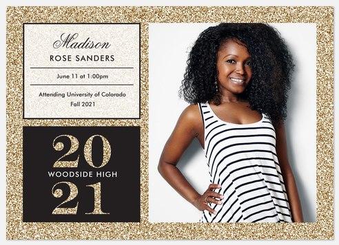 Lavish Glitter Graduation Cards
