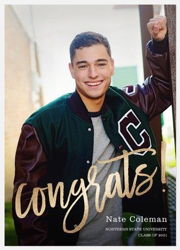 Shining Congrats Graduation Cards