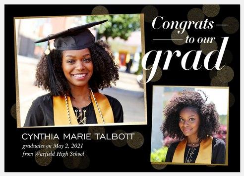 Glimmering Congrats Graduation Cards
