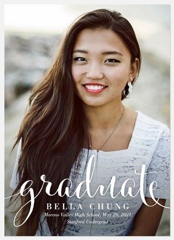 Calligraphy Graduate Graduation Cards