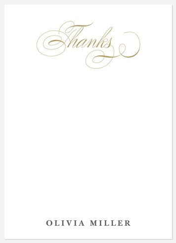 Elegant Grad Thank You Cards
