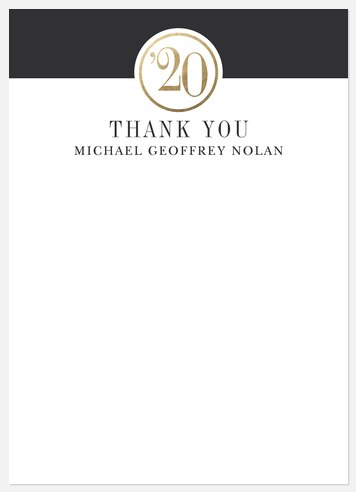 Medallion Year Thank You Cards