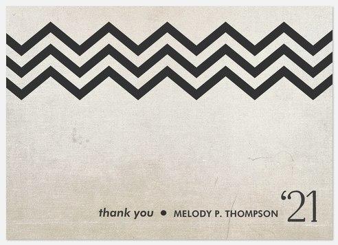 Chevron Stripe Thank You Cards