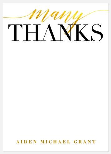 Illuminated Gratitude Thank You Cards