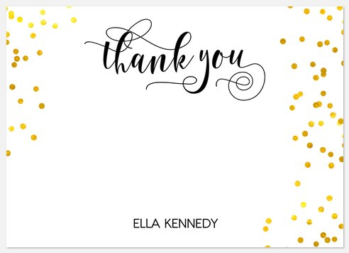 Gilded Confetti Thank You Cards