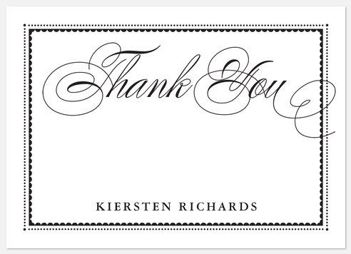 Gilded Chic Thank You Cards