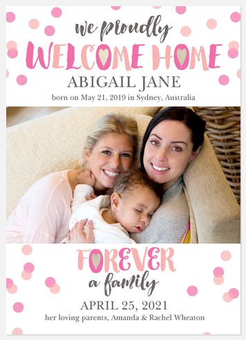 Whimsical Welcome Baby Birth Announcements