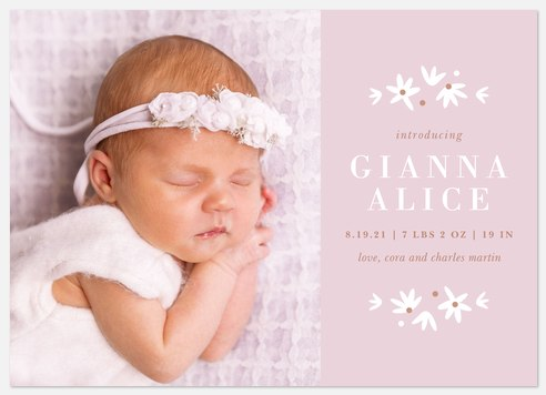 Sweet Serenity Baby Birth Announcements