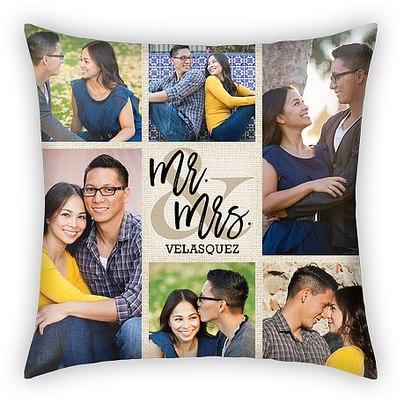 Celebrated Matrimony Custom Pillows