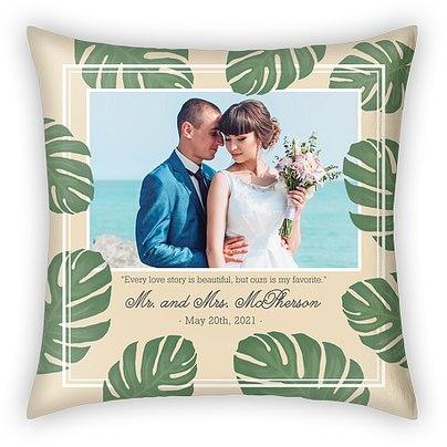 Tropical Love Story Custom Pillows