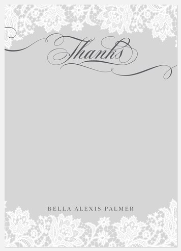 Delicately Charmed Thank You Cards