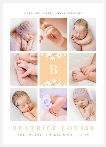 Adorable Collection Baby Birth Announcements