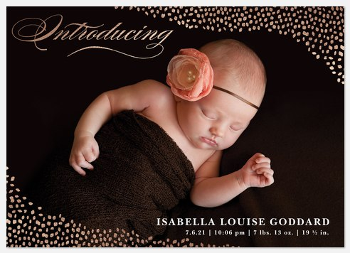 Rosy Introduction Baby Birth Announcements