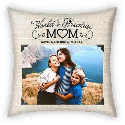 World's Greatest Mom Custom Pillows