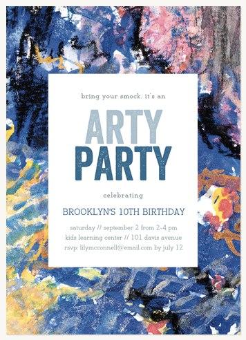 Abstract Festivity Kids Birthday Invitations
