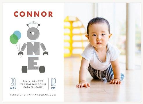 Birthday Bot Kids Birthday Invitations
