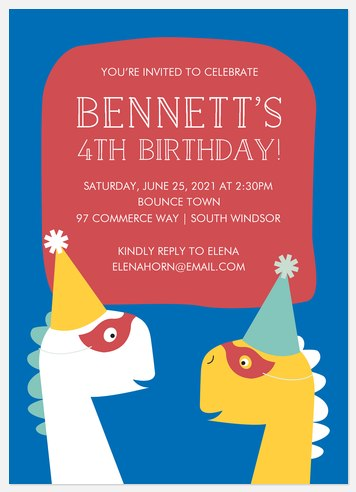 Party-o-saurus  Kids' Birthday Invitations