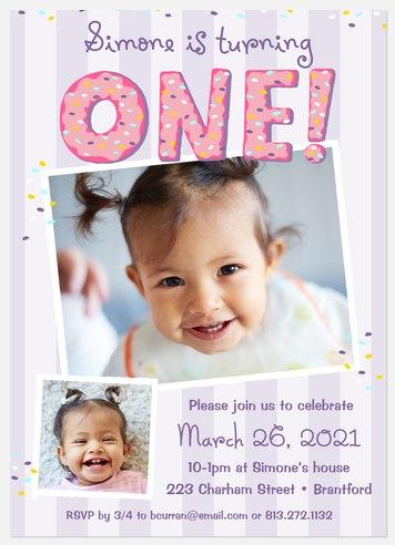 Sprinkles On Top Kids' Birthday Invitations