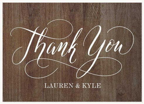 Wedding Thank You Cards Rustic Chic