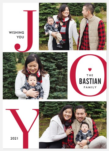 Stacked Joy Holiday Photo Cards