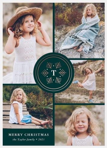 Winter Monogram Holiday Photo Cards