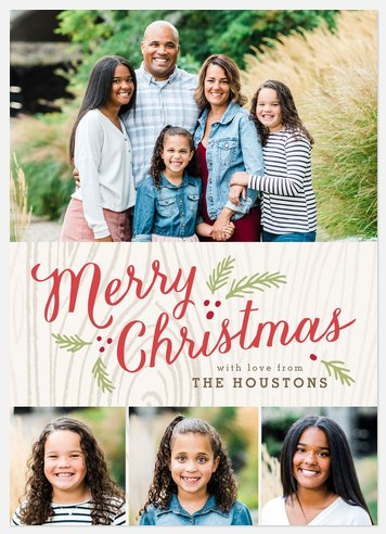 Merried With Charm Holiday Photo Cards