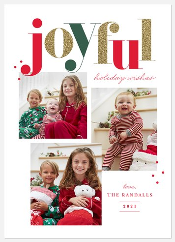 Glittered Wishes Holiday Photo Cards