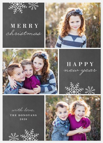 Winter Windowpanes Holiday Photo Cards