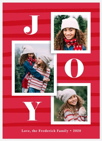 Joyful Snapshots Holiday Photo Cards