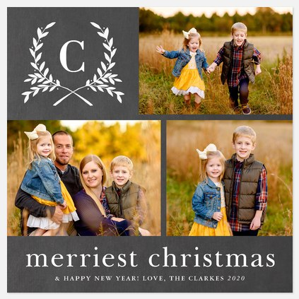 Merriest Laurels Holiday Photo Cards