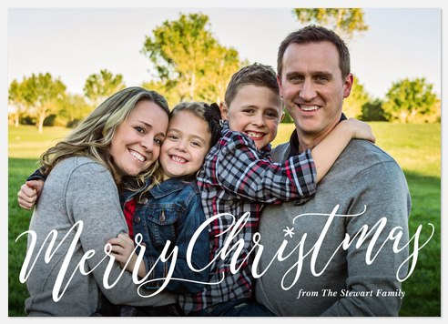 Christmas Calligraphy Holiday Photo Cards