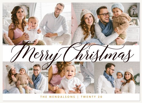 Cheery Collage Personalized Holiday Cards